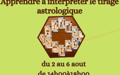 Stage d'été Astro 2021 : Du 2 au 6 Août